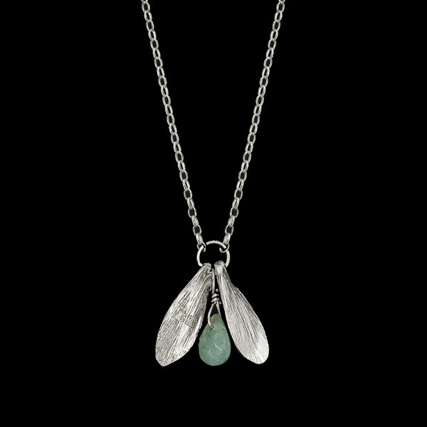 Silver Lucky Leaf Drop Pendant