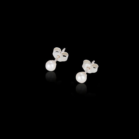 Silver Mini Pearl Stud Earrings by catherine zoraida