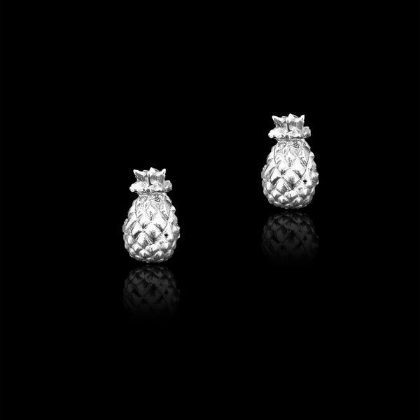 Silver Pineapple Studs by catherine zoraida