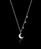 Silver Starry Night Cosmic Moon Pendant catherine zoraida