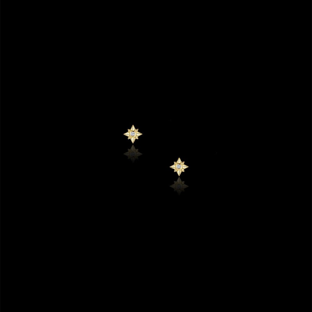 Gold Star Studs by Catherine Zoraida