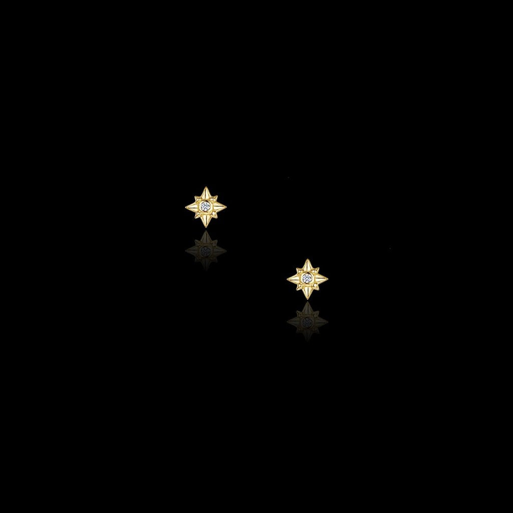 Gold Star Studs Catherine Zoraida