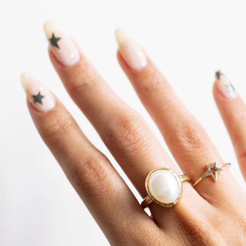 Gold Apple Twig Ring