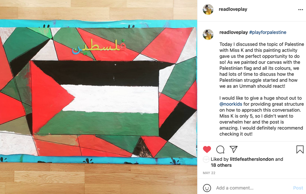 Instagram page for education children
