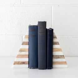 Stripe Marble Bookends