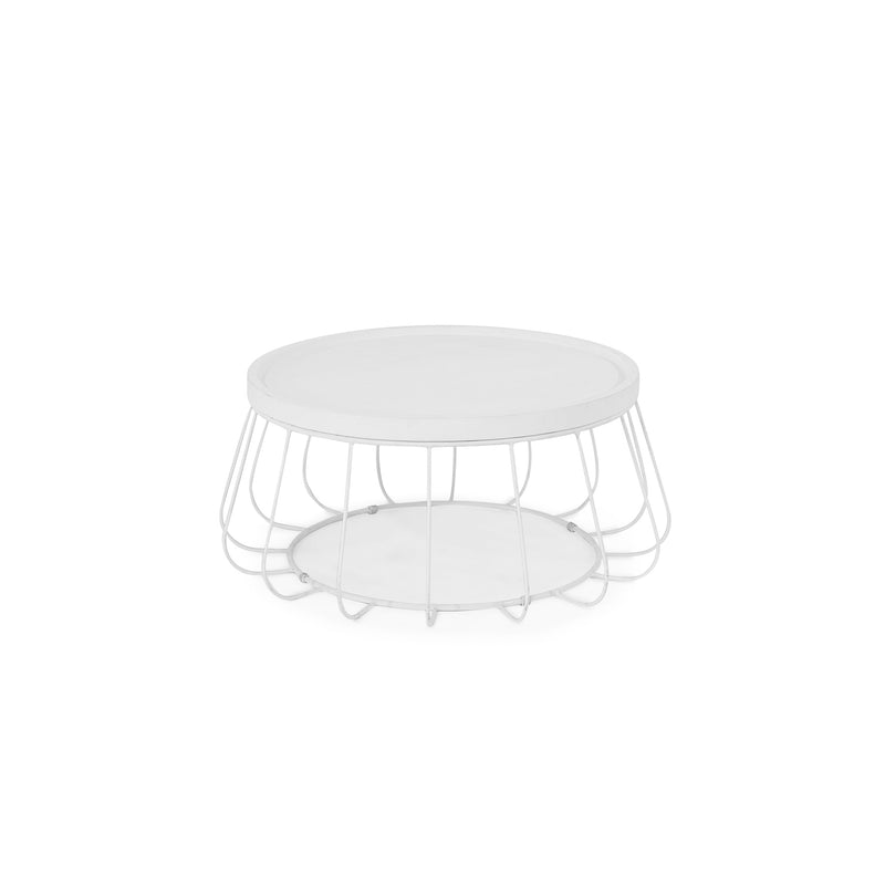 Trevi Wire Coffee Table - White