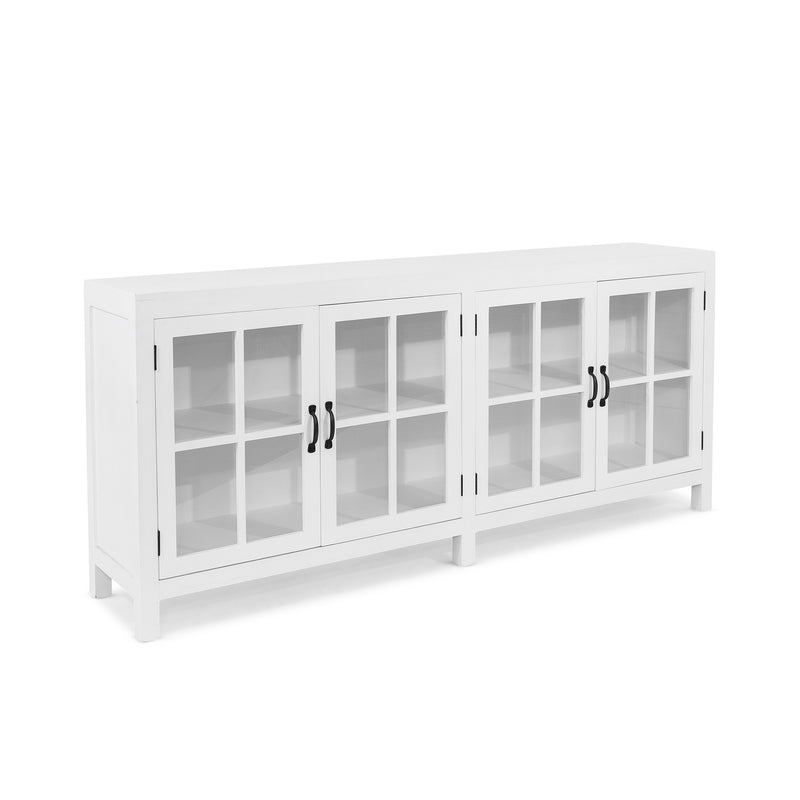 Travelor Glass Buffet White