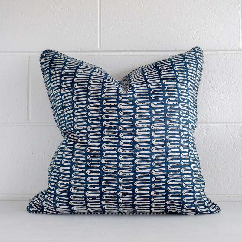 Antica Indigo Linen Cushion