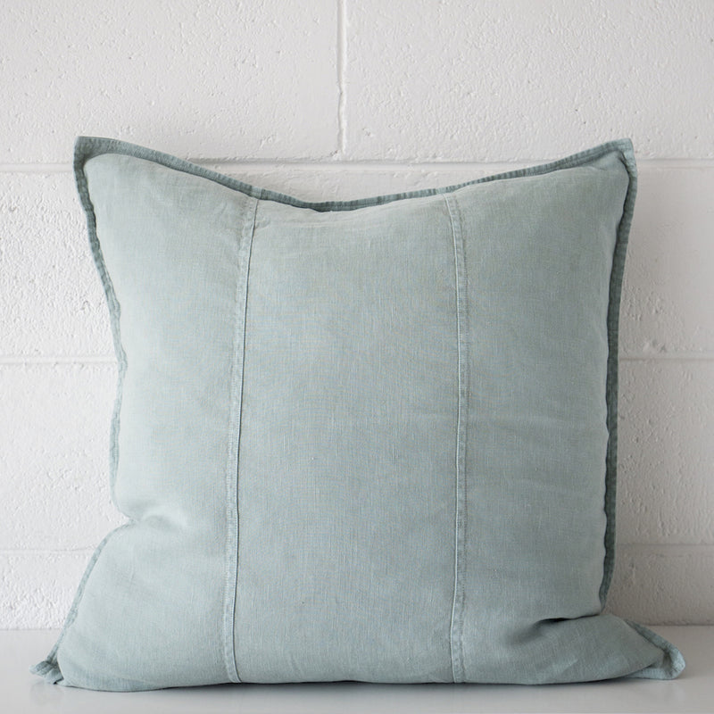 Luca Linen Cushion Sea Mist Lrg