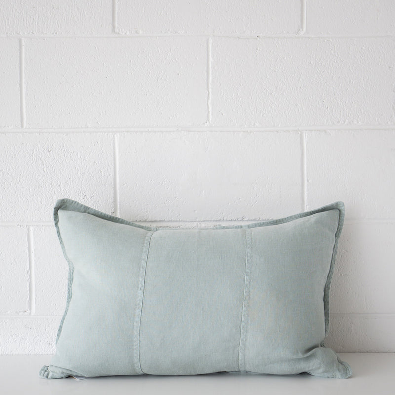 Luca Linen Oblong Cushion Sea Mist