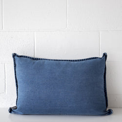 Loft Denim Cushion Navy Oblong
