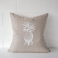 Pineapple Linen Cushion White