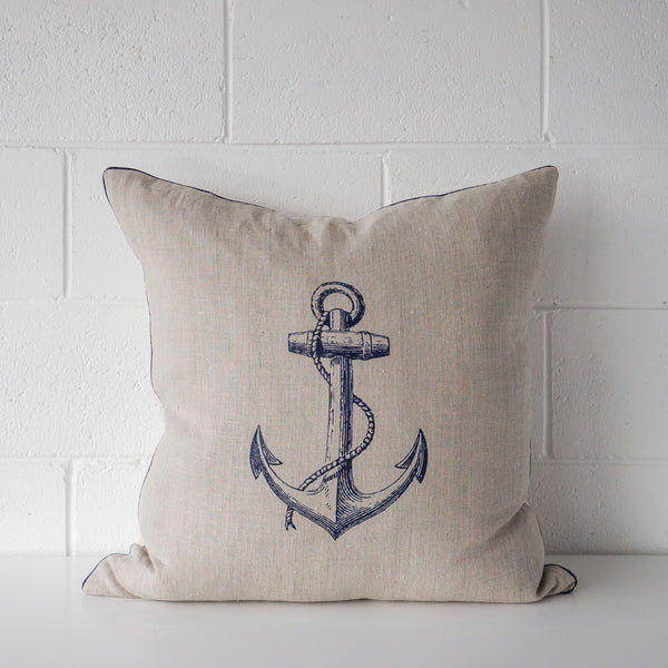 Anchor Linen Cushion Indigo
