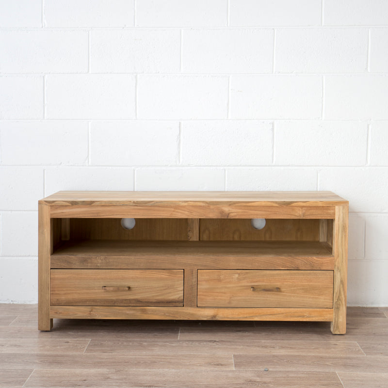 Corfu Entertainment Unit Teak 2 Dr
