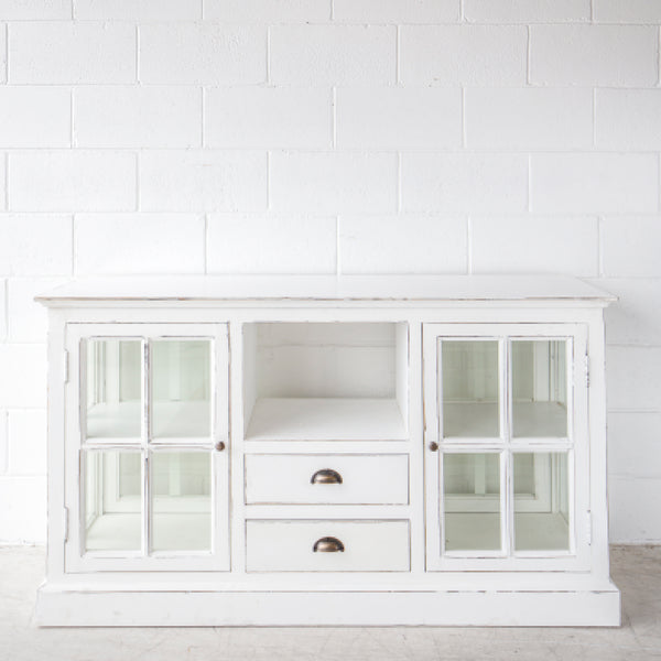 Glass Buffet White