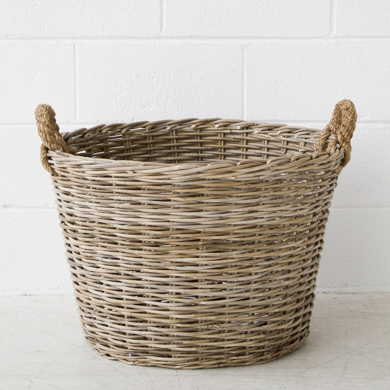 Oval Sloped Storage Basket Lrg