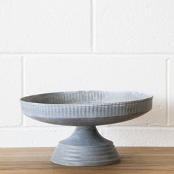 Metal Bowl on Stand in Galvanised Finish