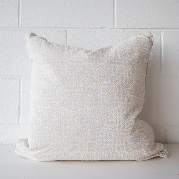Batik Chalk Linen Cushion