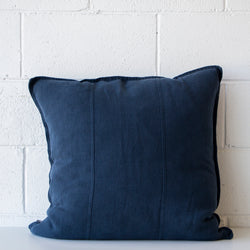 Luca Linen Cushion Navy Lrg