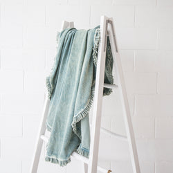 Wash Round Towel in Teal