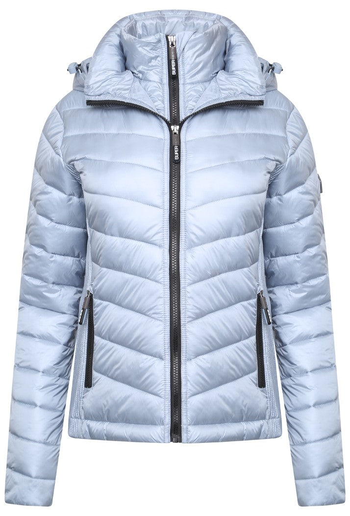 SUPERDRY LUXE CHEVRON FUJI JACKET - METAL GREY