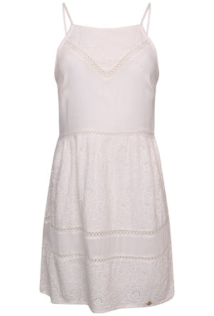 SUPERDRY LILAH SCHIFFLI DRESS - LINER WHITE