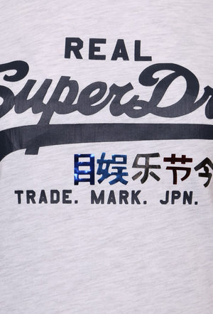 SUPERDRY VINTAGE LOGO FOIL POP T-SHIRT - ICE MARL