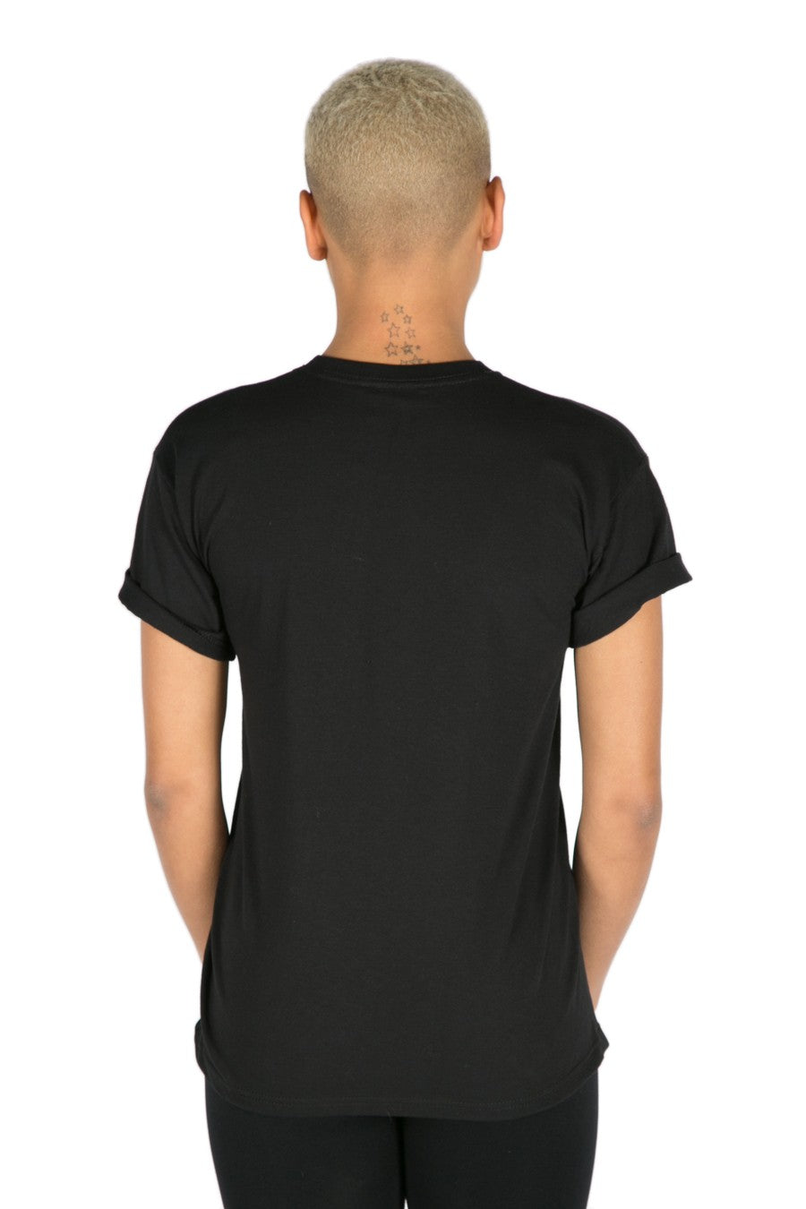 SNOW WAY SLOGAN T-SHIRT - BLACK