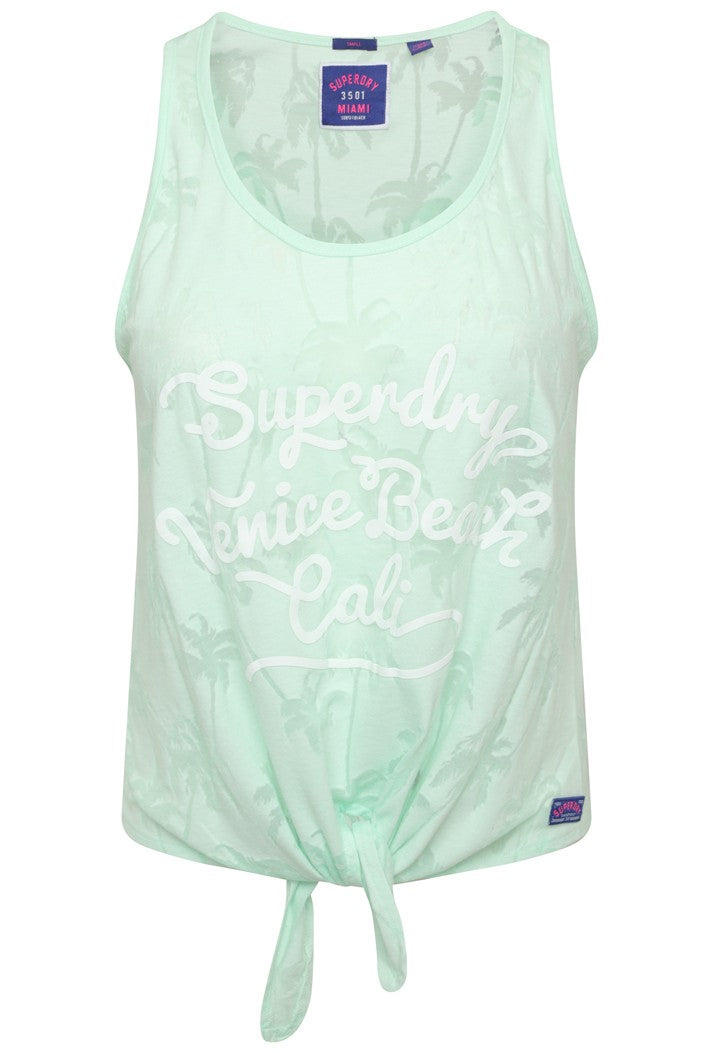 SUPERDRY SURF BEACH TANK TOP - MORNING DEW MINT