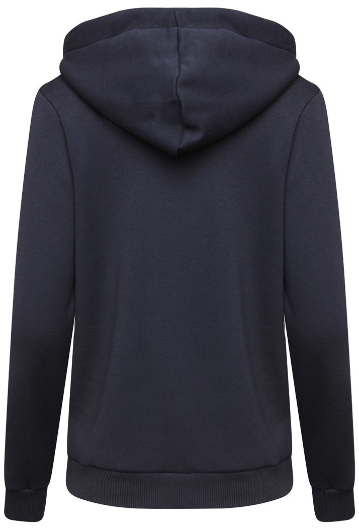 HYPE EMBROIDERED PULLOVER HOODIE - NAVY/WHITE