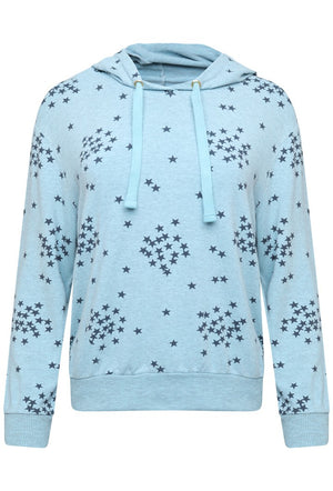 A POSTCARD FROM BRIGHTON SCARLETT STARRY HOODIE - SKY