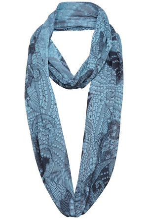 A POSTCARD FROM BRIGHTON LUXE CHIFFON SNOOD - SKY
