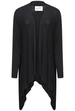 A POSTCARD FROM BRIGHTON FABLE WATERFALL CARDIGAN - BLACK