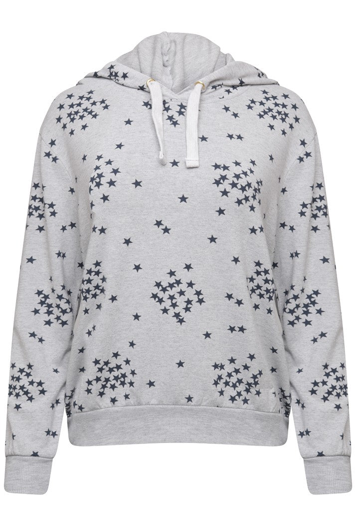 A POSTCARD FROM BRIGHTON SCARLETT STARRY HOODIE - GREY WHITE