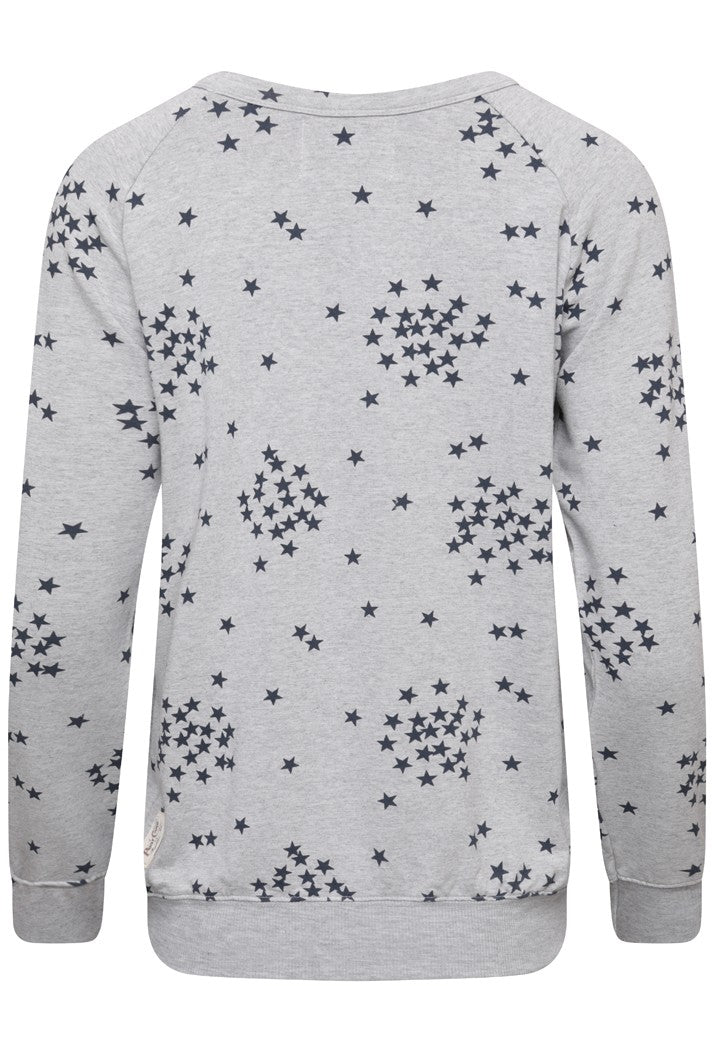 A POSTCARD FROM BRIGHTON SAFFRON STARRY SWEATER - GREY WHITE