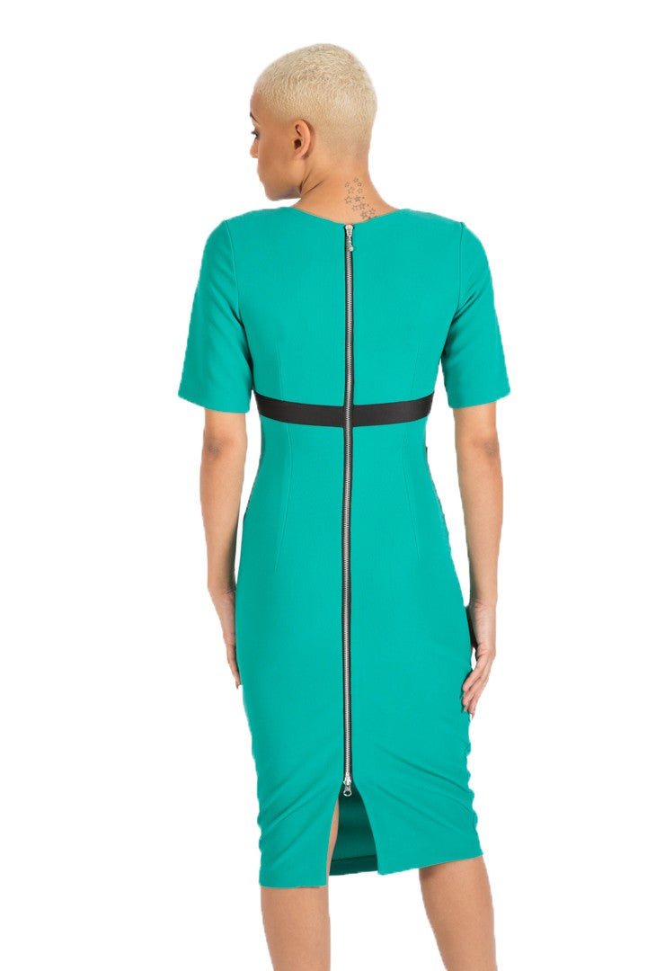 DIVA CATWALK NADIA BAND DRESS - EMERALD GREEN