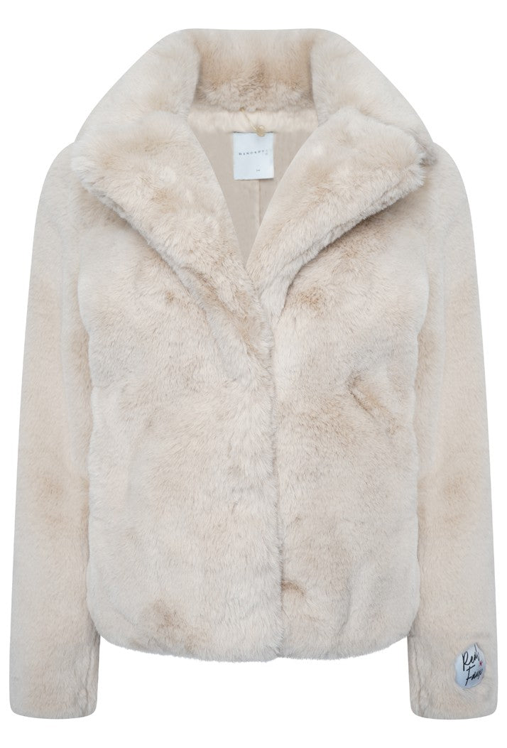 Juna Faux Fur Coat - Sand