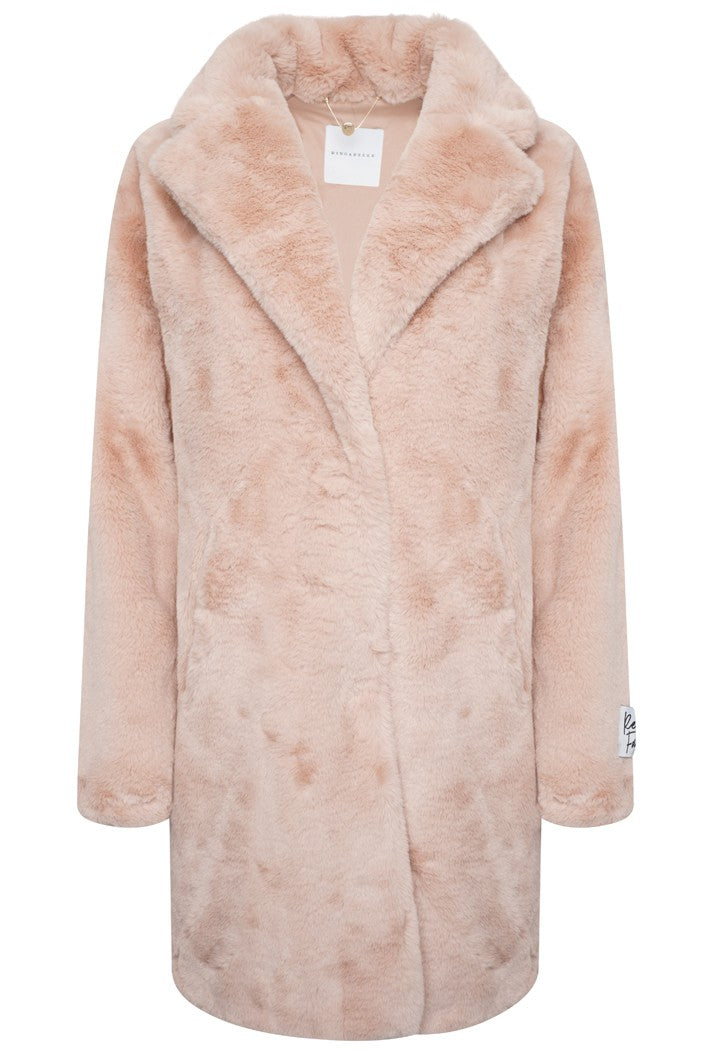Joela Faux Fur Coat - Misty Rose