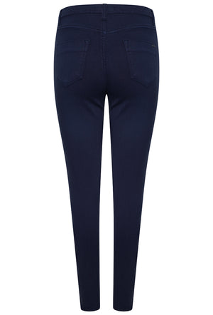 L185-25 High Waist Skinny Jeans - Navy Blue
