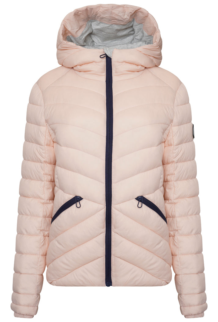 Helio Fuji Hooded Jacket - Peach Whip
