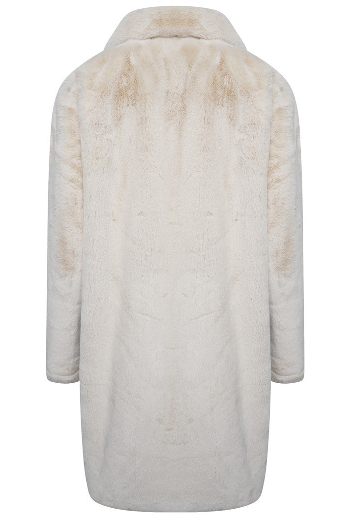 Joela Faux Fur Coat - Sand
