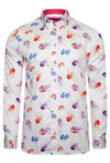 STING PREMIUM JELLYFISH PRINT LONG SLEEVE SHIRT – WHITE