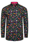 FRUIT PREMIUM FRUIT PRINT LONG SLEEVE SHIRT - NAVY