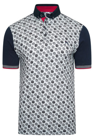 SIGN DIGITAL PRINT POLO SHIRT - NAVY