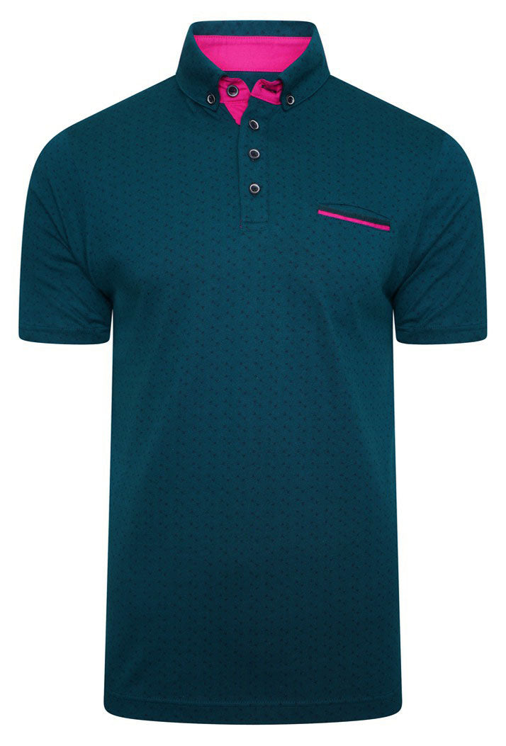 ICED DIGITAL PRINT POLO SHIRT - PETROL