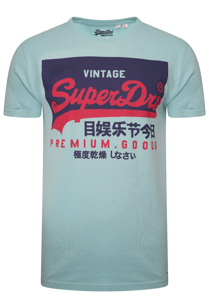 Organic Cotton Vintage Logo T-Shirt - Fresh Mint