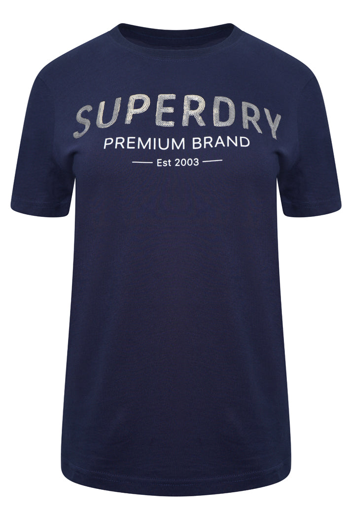Premium Sequin T-Shirt - Atlantic Navy