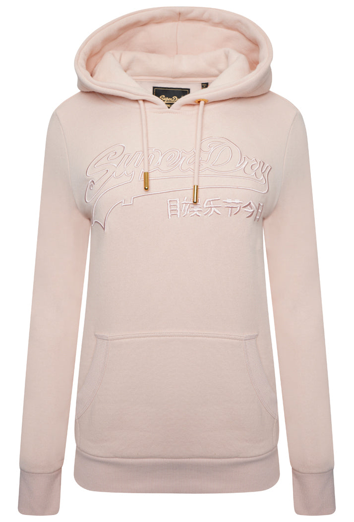 Vintage Logo Outline Hoodie - Peach Whip