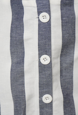 Eden Linen Dress - Blue Stripe