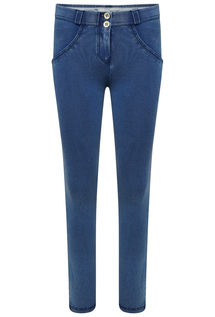 WR.UP® Regular-Rise Super Skinny Trousers in Light Jersey Denim